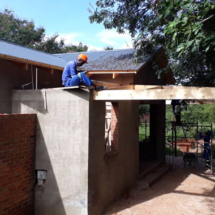 Mbano-Construction-Jan-2019-veranda-under-teak-trees